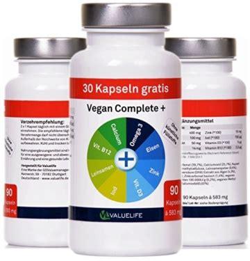 vitamine für veganer nahrungserg 228 nzungsmittel f 252 r veganer vegan complete