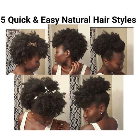 5 quick easy natural hair styles short medium length