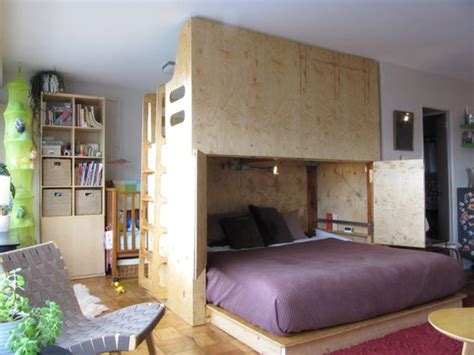 beds for small studio apartments small studio fits family of four lifeedited