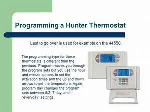 Hunter 42122 Thermostat Wiring Diagram