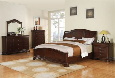 cherry finish bedroom furniture cameron bedroom set cherry finish cm750qb