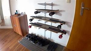 Longboard Selber Bauen : g nstige wandhalterung f r longboards selber bauen diy youtube ~ Frokenaadalensverden.com Haus und Dekorationen