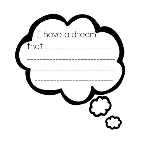 Thinking Cloud Writing Template by Dream Bubble Cliparts Co