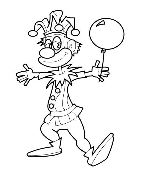 Kleurplaat Clown Met Ballonnen by Clown Kleuren Is Leuk
