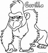 Gorilla Coloring Printable Pages Sheets sketch template