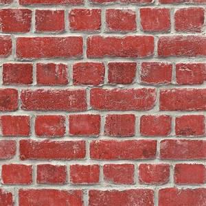 Rasch House Brick Pattern Wallpaper Faux Effect Realistic ...