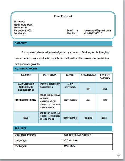 Resume Format Word by Beautiful Resume Format In Word