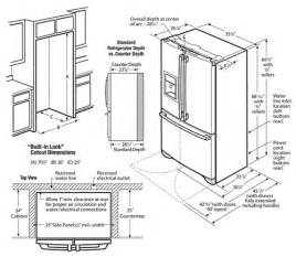 refrigerator dimensions awesome ideas 109941 decorating ideas project two kitchen communal