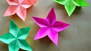 Papier Selber Machen : deko selber machen origami 3d gifts avec papier deko selber machen et origami blume basteln mit ~ Frokenaadalensverden.com Haus und Dekorationen