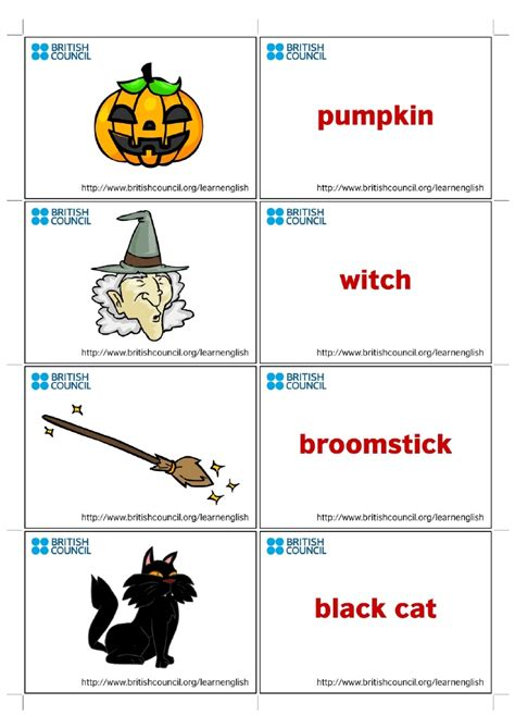 Kids Flashcards Halloween 1