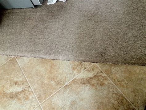 transition between tile carpet