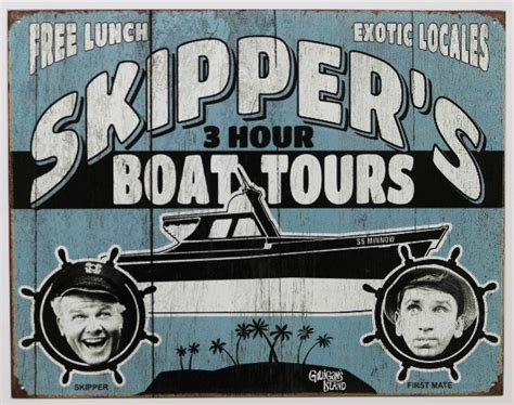 Gilligan S Island Boat by Gilligans Island Skippers 3 Hour Tour Tin Metal Sign