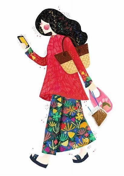 Malaysia Illustration Baju Malaysian Kurung Hellogold Behance