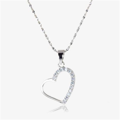 Natalia Sterling Silver DiamonFlash Cubic Zirconia Heart