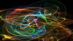 Full, Hd, Wallpaper, Curve, Line, Smoke, Rainbow, Expressionism
