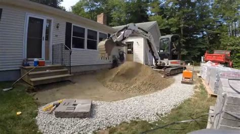 Patio Construction by Front Yard Paver Patio Construction Time Lapse