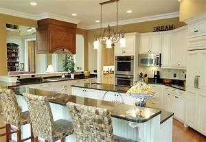 kitchens white kitchen interior design decor collection With kitchen colors with white cabinets with wall art easel
