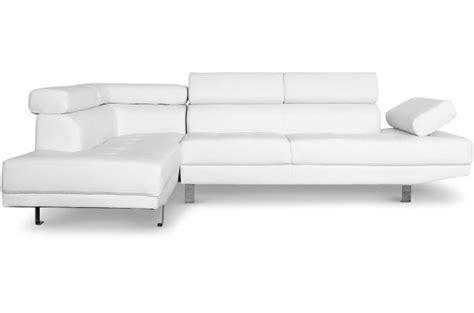 canapé d angle avec tetiere canapé d 39 angle droit blanc avec têtière relevable tilpa
