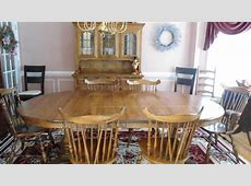 Dining Room setTempleStuart Hutch, 6 chairs, Table #