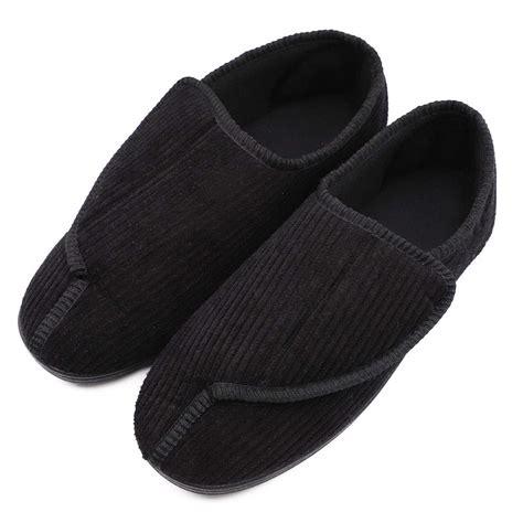 bizar mens memory foam slippers  diabetic soft wide