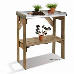 Table De Jardin En Bois Pas Cher : table de rempotage pr paration et semis en bois jardipolys pas cher ~ Teatrodelosmanantiales.com Idées de Décoration