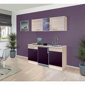 Singleküche 150 Cm : singlek che sofia breite 150 cm akazie aubergine mit kochfeld und k hlschrank ~ Watch28wear.com Haus und Dekorationen