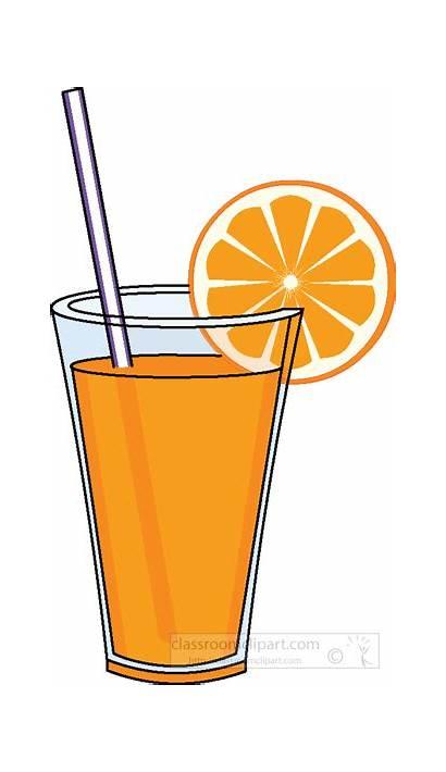 Juice Clipart Orange Glass Drink Straw Beverage