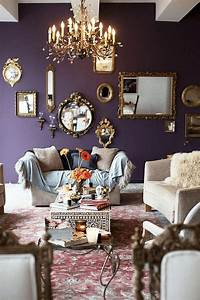 30, Awesome, Purple, Living, Room, Wall, Color, Ideas, You, Have, To