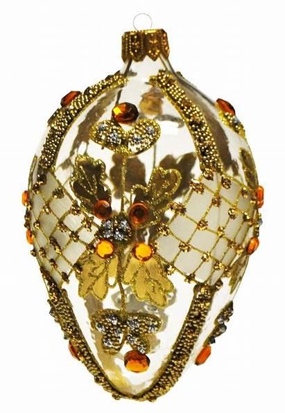 Faberge Christmas Egg Gold Ornament Eggs Ornaments