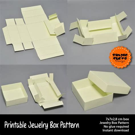 jewelry box printable pattern packaging gift box ready