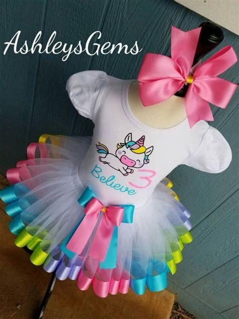 Unicorn Birthday Outfit Unicorn Tutu Unicorn Shirt Unicorn Party Unicorn Tutu Dress Rainbow ...