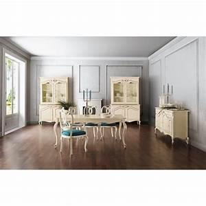 Salle A Manger De Luxe : salle manger de luxe ivoire glamour 1 buffet vaisselier et chaise ~ Melissatoandfro.com Idées de Décoration