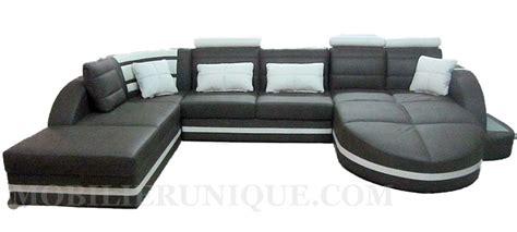 canapé assise profonde canapé d 39 angle en cuir gris modèle loan