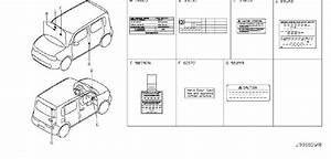 Nissan Cube Emission Label  Krom - 14805-1fd0a