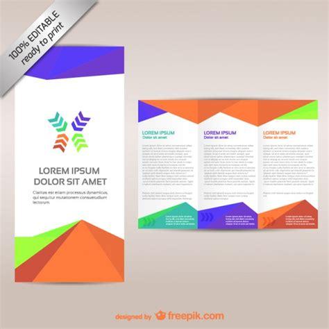 colorful tri fold brochure template vector