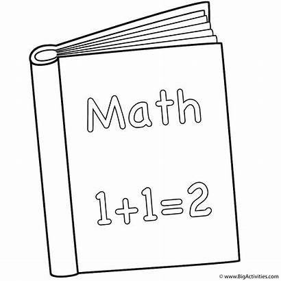 Coloring Books Math Pages Kindergarten Maths Colouring