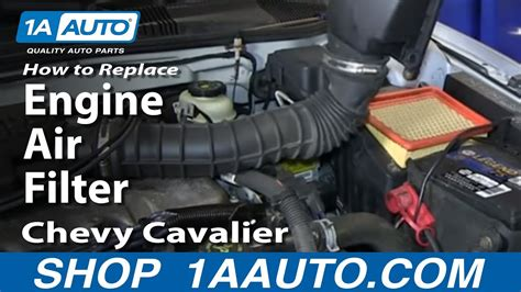 96 Cavalier Fuel Filter by How To Replace Install Engine Air Filter Chevy Cavalier