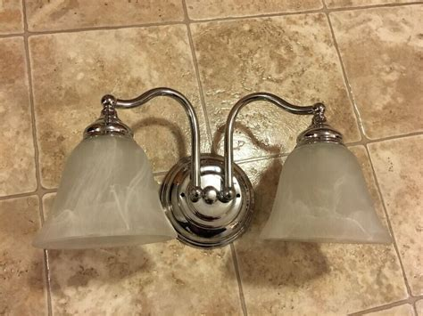 bathroom vanity light fixture silver  bulb bath room
