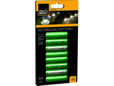 cole bright rechargeable batteries for solar lights 8