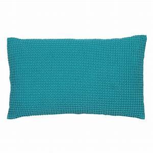 Housse De Coussin Bleu : coussin deco bleu turquoise ~ Dailycaller-alerts.com Idées de Décoration