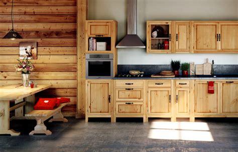 cuisine pour chalet idées déco montagne une cuisine en bois esprit chalet