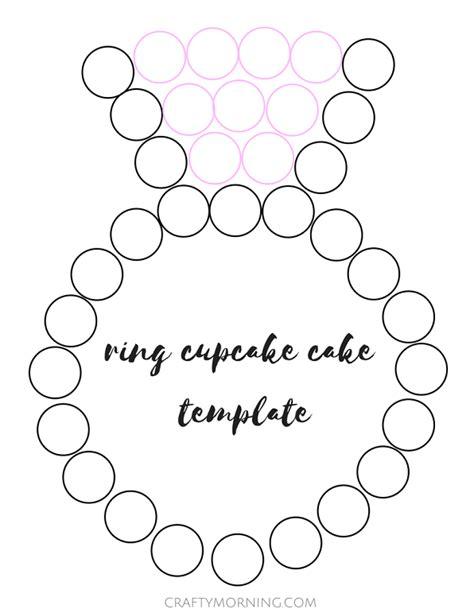 pull apart cupcake cake templates ring engagement cupcake cake crafty morning