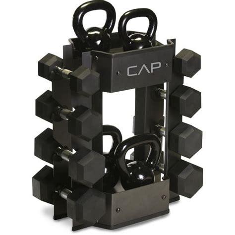 cap barbell dumbbell  kettlebell storage rack academy