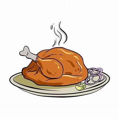 Turkey Dinner Draw Roast Drawing Easy Step