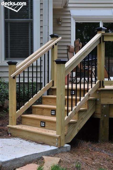 deck railing pictures stairs 25 best ideas about outdoor stair railing on