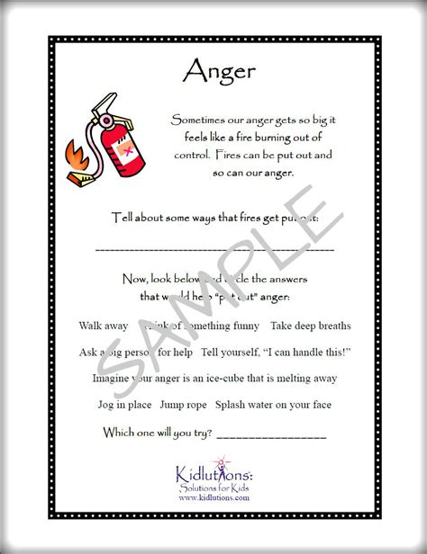 free printables on anger self esteem divorce grief and more