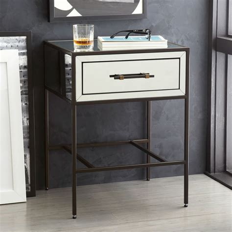 Bedroom Table Ls by Mirrored Bedside Table West Elm Australia