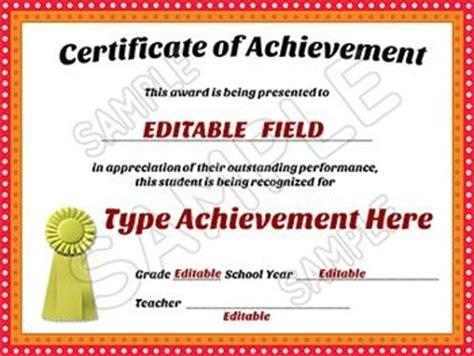 awards certificates  achievement editable room