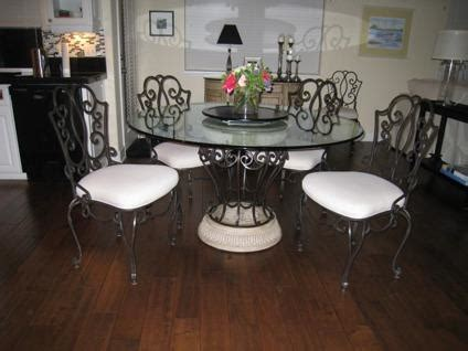 obo wrought iron table  chairs  etagere  sale