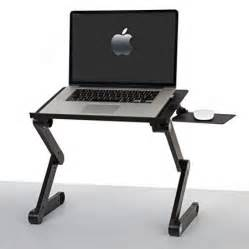 ivation adjustable portable computer desk with dual usb